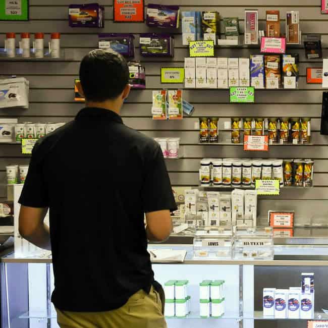 Dispensary shelves