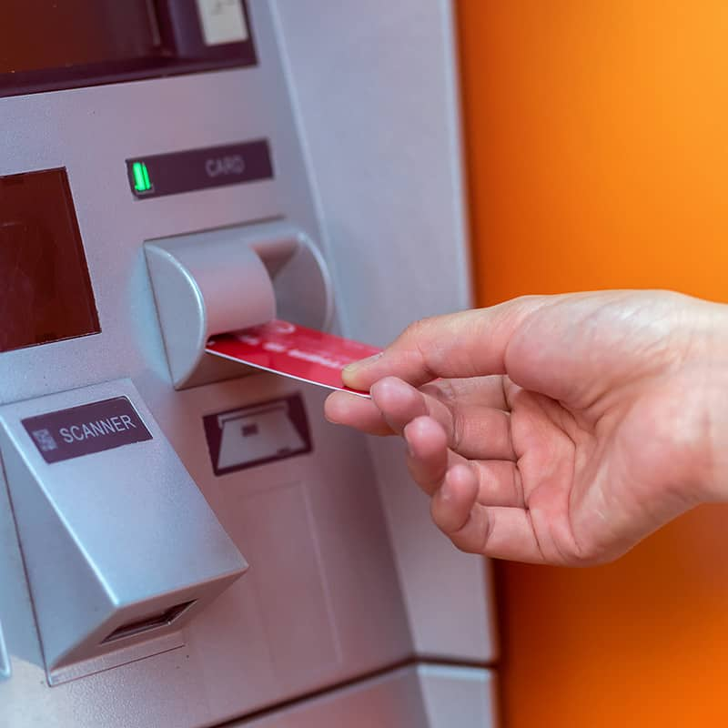 withdraw ATM machine